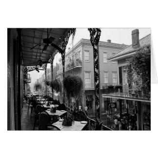 Tarjeta del brunch del barrio francés