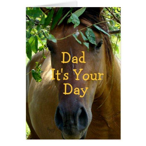 Tarjeta del caballo de Brown cualquier ocasión