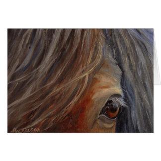 """Tarjeta del caballo de la """"confianza"""""""