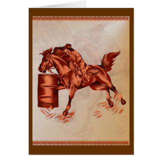 Tarjeta del caballo del barril