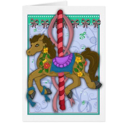 Tarjeta del caballo del carrusel