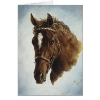 Tarjeta del caballo del funcionamiento