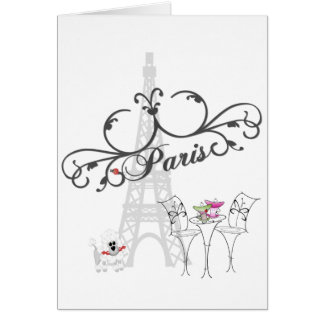 Tarjeta del café de París