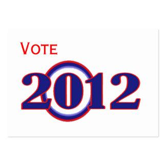 Tarjeta del calendario de la campaña 2012 de Obama Plantilla De Tarjeta De Negocio
