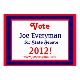 Tarjeta del calendario del candidato 2012 de la ca plantillas de tarjetas de visita