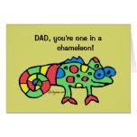 Tarjeta del camaleón del día de padre