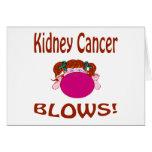 Tarjeta del cáncer del riñón de los soplos