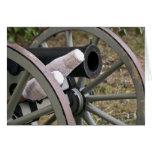 Tarjeta del cañón de la guerra civil