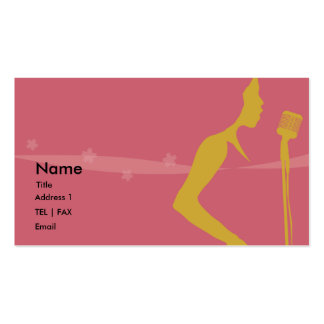 Tarjeta del cantante plantilla de tarjeta de visita