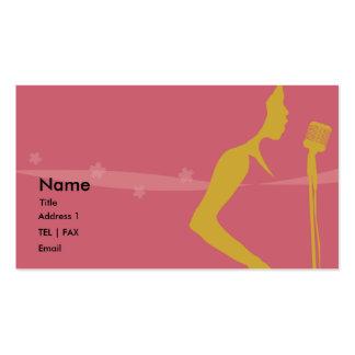 Tarjeta del cantante tarjetas de visita
