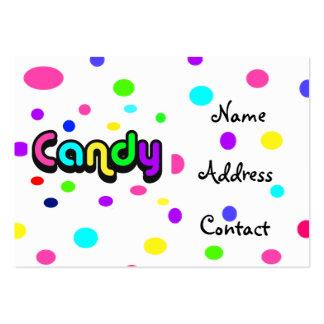 tarjeta del Caramelo-negocio Tarjetas De Visita Grandes