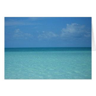 Tarjeta del Caribe del horizonte