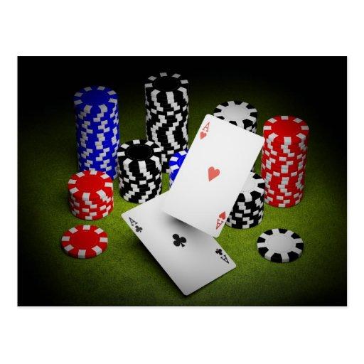 Tarjeta del casino tarjetas postales