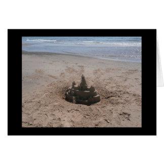 Tarjeta del castillo de arena