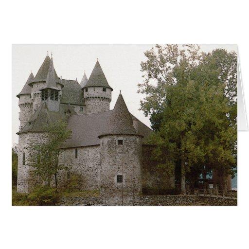 Tarjeta del castillo francés de Auvergne