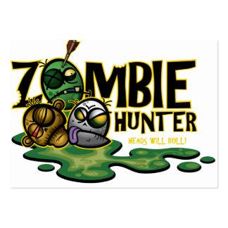 Tarjeta del cazador del zombi tarjetas de visita
