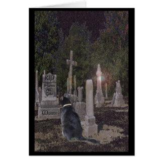 Tarjeta del cementerio del mascota