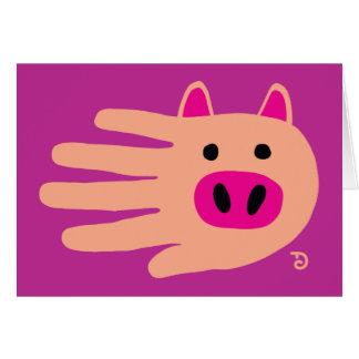 Tarjeta del cerdo