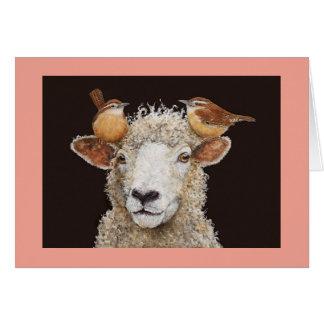 Tarjeta del Chaperone de las ovejas