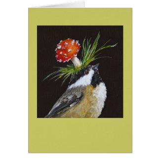 tarjeta del chickadee (Blythe)