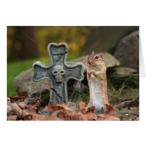 Tarjeta del Chipmunk de la diversión de Halloween