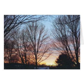 Tarjeta del cielo de diciembre