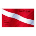 Tarjeta del club de la zambullida tarjetas de negocios