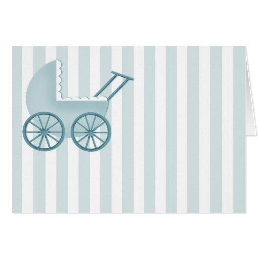Tarjeta del cochecillo de bebé (azul)