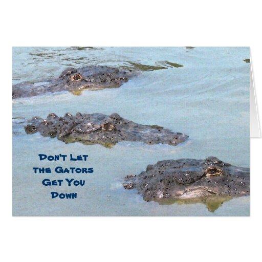 Tarjeta del cocodrilo de la enhorabuena
