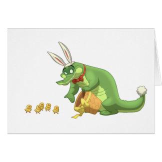 Tarjeta del cocodrilo de Pascua (espacio en blanco