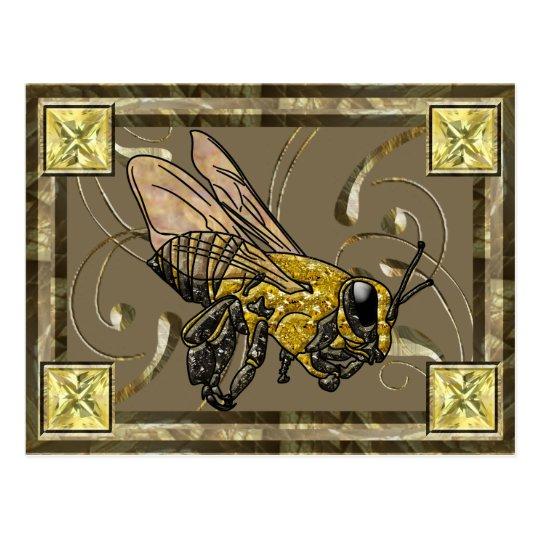 Tarjeta del colector de la abeja de la miel tarjetas postales