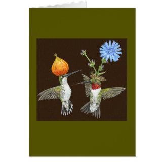 Tarjeta del colibrí de Doug y de Cheryl