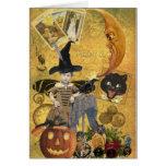 Tarjeta del collage de Halloween del vintage
