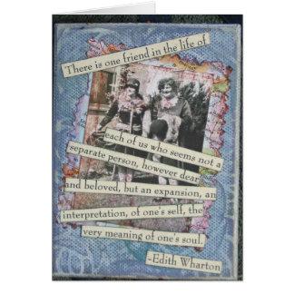 Tarjeta del collage de la caja de la amistad