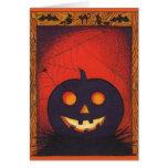 Tarjeta del collage de la calabaza de Halloween
