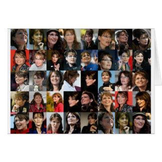 Tarjeta del collage de la foto de Sarah Palin