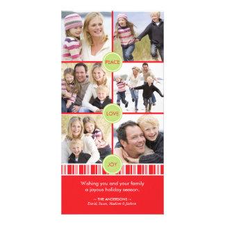 Tarjeta del collage de la foto del día de fiesta d plantilla para tarjeta de foto