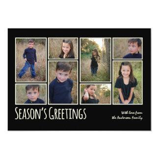 """Tarjeta del collage de la foto del saludo de la invitación 5"""" x 7"""""""