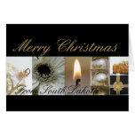 Tarjeta del collage de las Felices Navidad de Dako