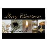 Tarjeta del collage de las Felices Navidad de Minn