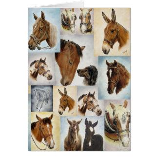 Tarjeta del collage del caballo