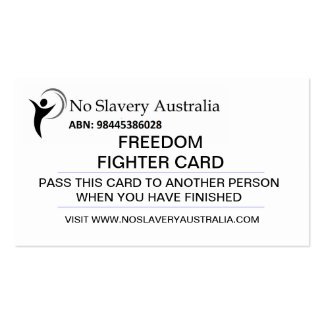 Tarjeta del combatiente de la libertad tarjetas de visita