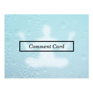 tarjeta del comentario de la falta de definición tarjetas postales