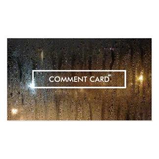 tarjeta del comentario de la lluvia del otoño tarjetas de visita