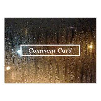 tarjeta del comentario de la lluvia del otoño tarjetas de visita grandes