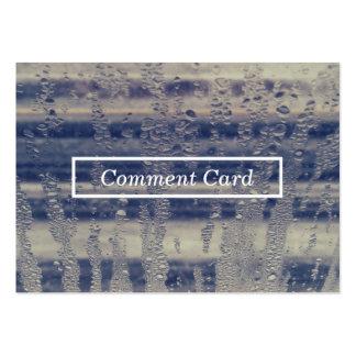 tarjeta del comentario de la ventana del invierno tarjetas de visita grandes