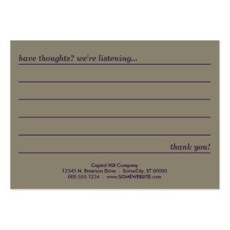 tarjeta del comentario del estilo del emo tarjetas de visita grandes