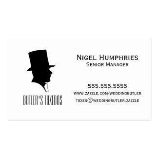 Tarjeta del comercio al por menor del sombrero de tarjetas de visita