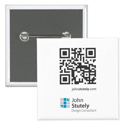 Tarjeta del comercio electrónico del código de Jua Pin Cuadrada 5 Cm