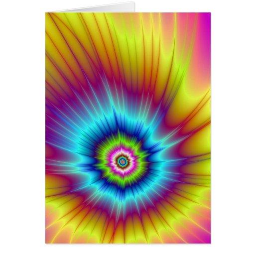 Tarjeta del cometa del arco iris